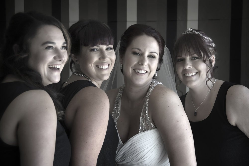 Bride and bridesmaids | Astra bride Jenni | Maggie Sottero gown | Wallaceville House | Paul Michaels Photography |