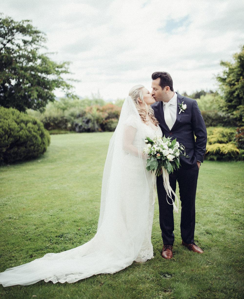 First Kiss | Astra bride Sara | Sottero & Midgley Diana | Mount Roy and Alta Tarns Wanaka | Grey Area Productions |