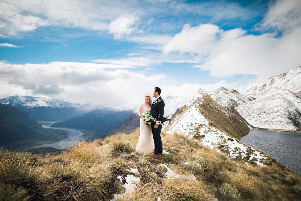 Southern alps | Astra bride Sara | Sottero & Midgley Diana | Mount Roy and Alta Tarns Wanaka | Grey Area Productions |