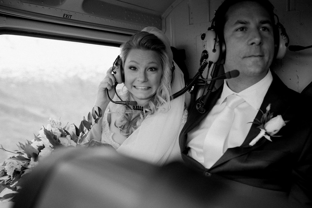 Helicopter flight | Astra bride Sara | Sottero & Midgley Diana | Mount Roy and Alta Tarns Wanaka | Grey Area Productions |