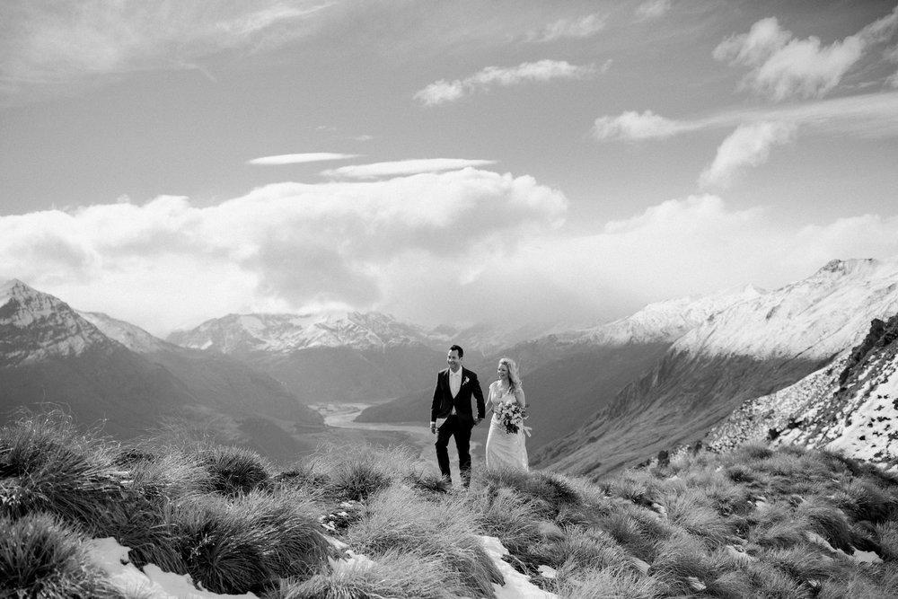 Alpine shot | Astra bride Sara | Sottero & Midgley Diana | Mount Roy and Alta Tarns Wanaka | Grey Area Productions |