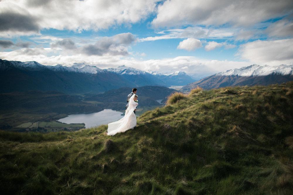 Gorgeous alpine wedding | Astra bride Sara | Sottero & Midgley Diana | Mount Roy and Alta Tarns Wanaka | Grey Area Productions |