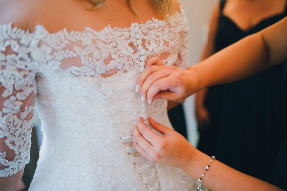 Getting dressed | Astra bride Ruth | Maggie Sottero Nadia | Wallaceville House | The Woods Photography |