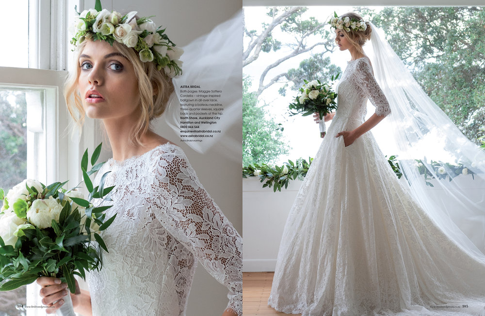 Maggie Sottero Cordelia | As seen in Bride and Groom magazine issue 94 |