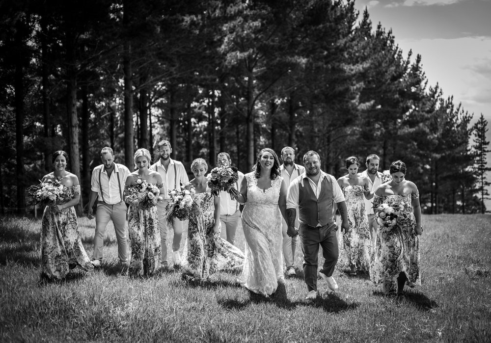 Wedding party | Astra bride Martine | Maggie Sottero Londyn | Sante Fe at Ahipara | Nicole Jecentho Photographer