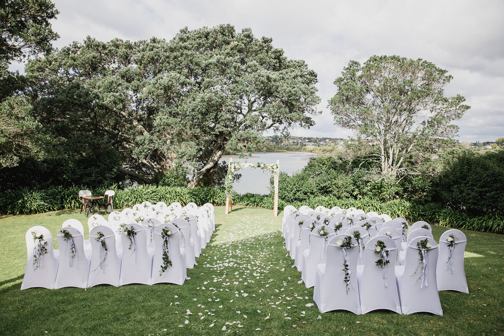 Anna's My Kitchen Rules wedding | Orakei Bay | Maggie Sottero Gown from Astra Bridal | www.borrowedandblue.kiwi