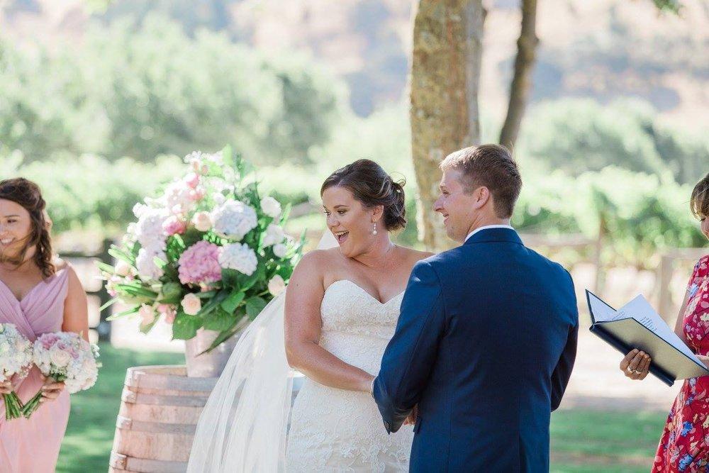 Vows | Astra Bride Karla | Te Awa Winery wedding | Maggie Sottero Chesney | Ash PHotography