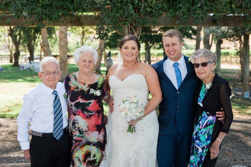 Grandparents | Astra Bride Karla | Te Awa Winery wedding | Maggie Sottero Chesney | Ash PHotography