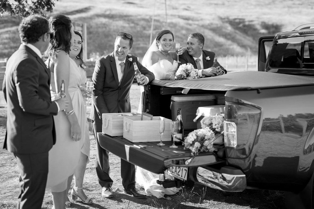 Relaxed wedding party | Astra Bride Karla | Te Awa Winery wedding | Maggie Sottero Chesney | Ash PHotography