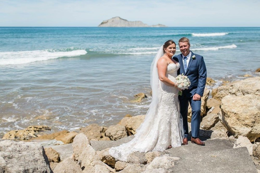 Waimarama beach | Astra Bride Karla | Te Awa Winery wedding | Maggie Sottero Chesney | Ash PHotography