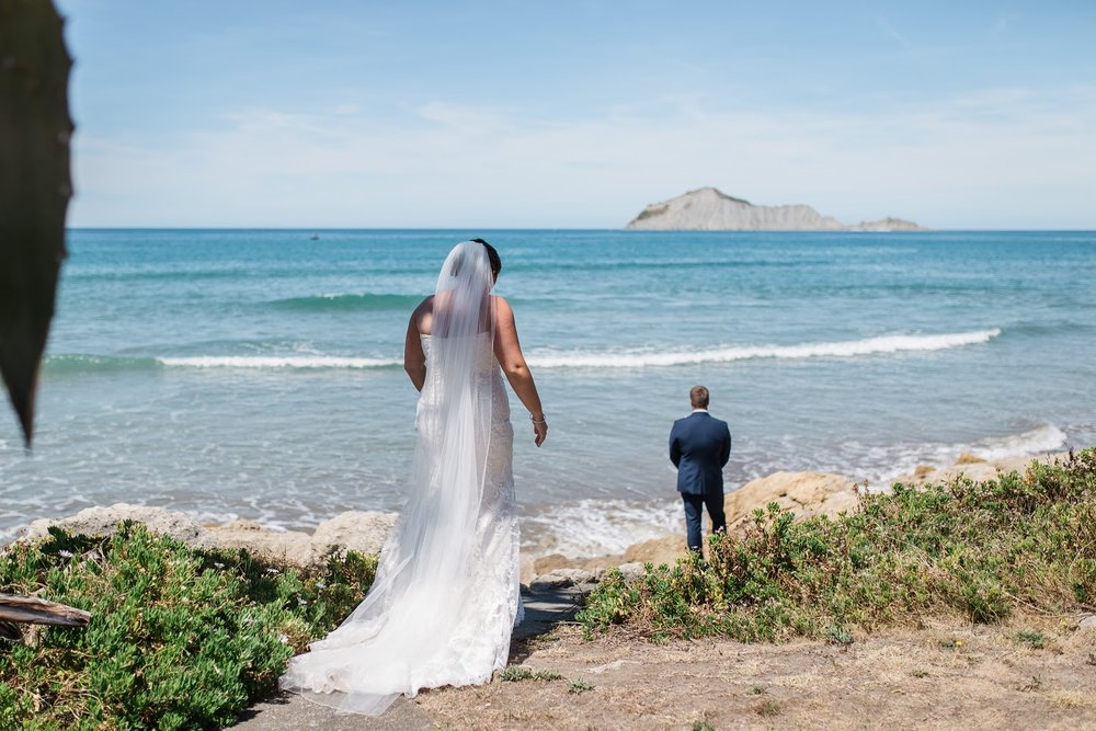 Groom awaits   Astra Bride Karla   Te Awa Winery wedding   Maggie Sottero Chesney   Ash PHotography