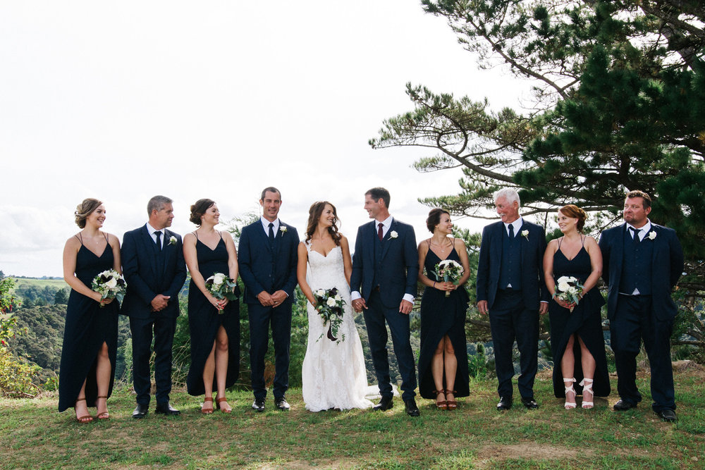 Bridal party shot | Astra bride Rhiannon | Maggie Sottero Collins | Wedding at home | Mason Bennett Photography |