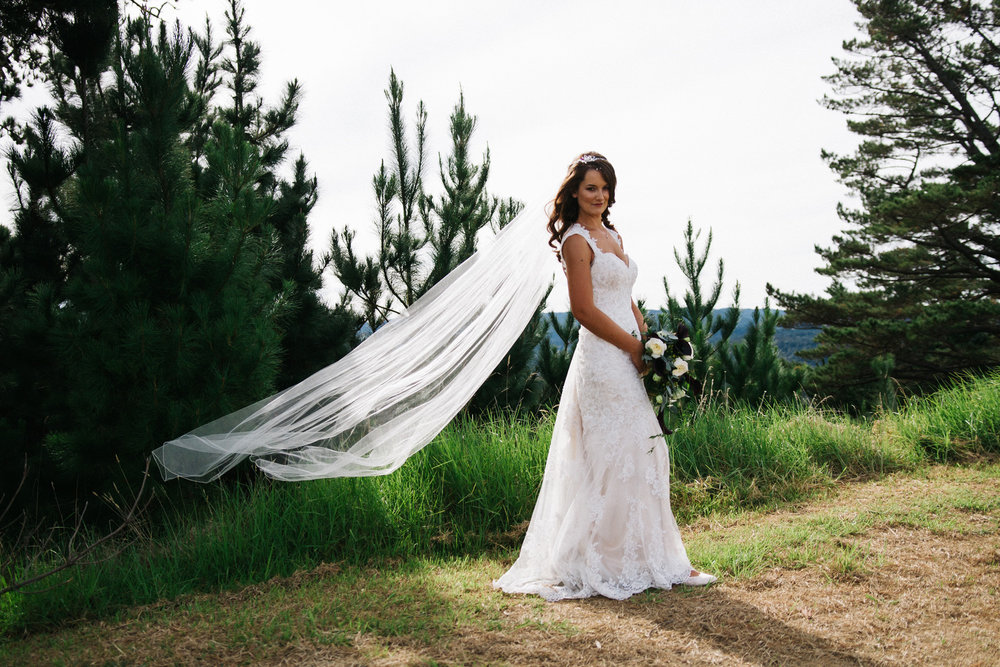 Stunning veil photo | Astra bride Rhiannon | Maggie Sottero Collins | Wedding at home | Mason Bennett Photography |