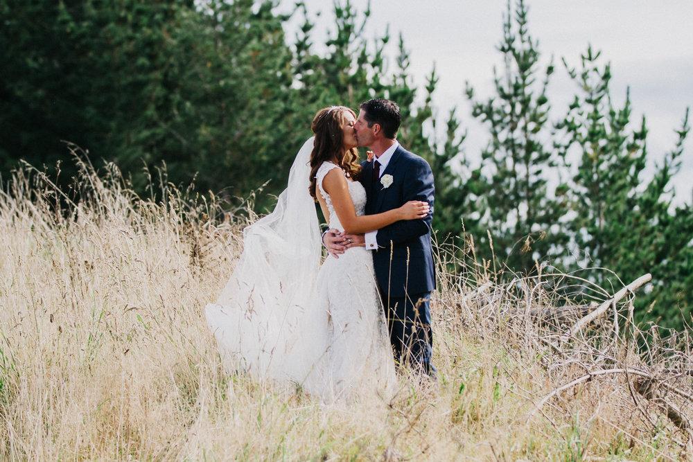 Hillside wedding | Astra bride Rhiannon | Maggie Sottero Collins | Wedding at home | Mason Bennett Photography |