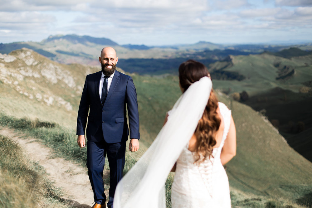 First look | Astra bride Erin | Christina Rossi 4246 | Te Awa Winery | Josh Neilson Photography