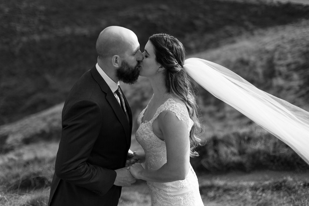 First kiss | Astra bride Erin | Christina Rossi 4246 | Te Awa Winery | Josh Neilson Photography