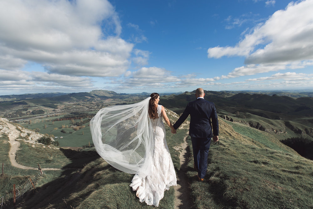 Great veil shot | Astra bride Erin | Christina Rossi 4246 | Te Awa Winery | Josh Neilson Photography