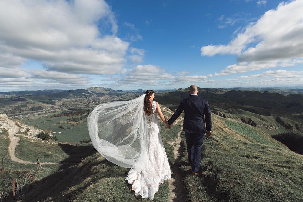 Great veil shot | Astra bride Erin | Christina Rossi 4246 | Te Awa Winery | Josh Neilson Photography