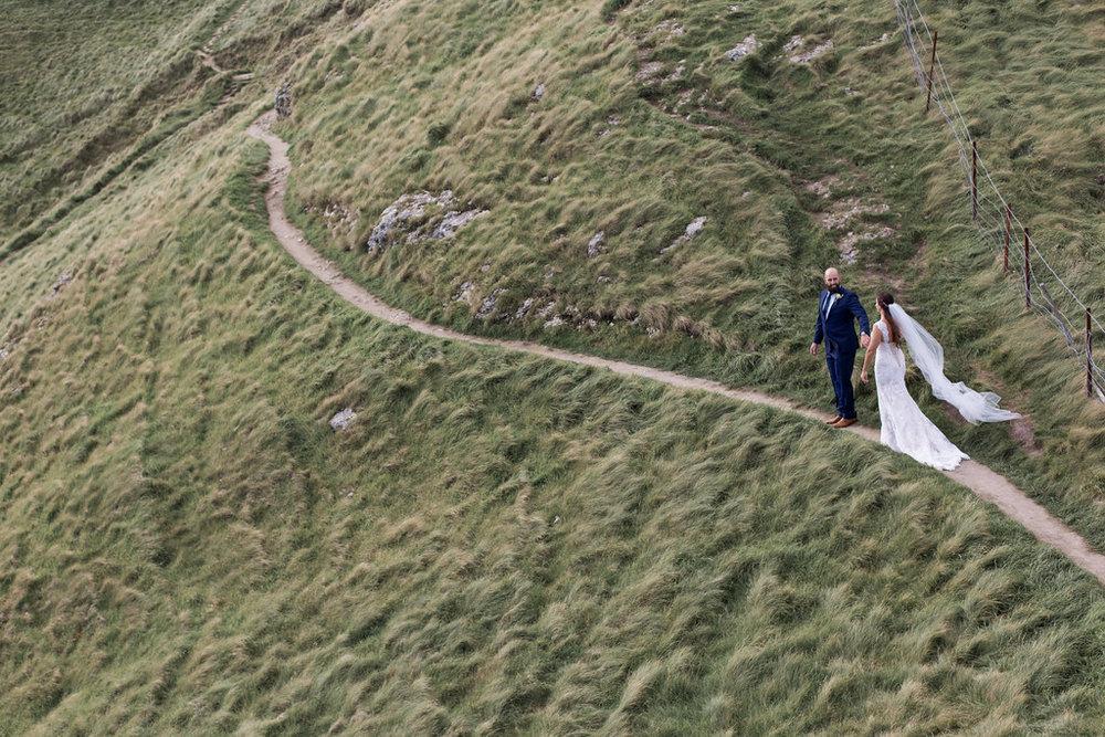 Trek up Te Mata peak | Astra bride Erin | Christina Rossi 4246 | Te Awa Winery | Josh Neilson Photography