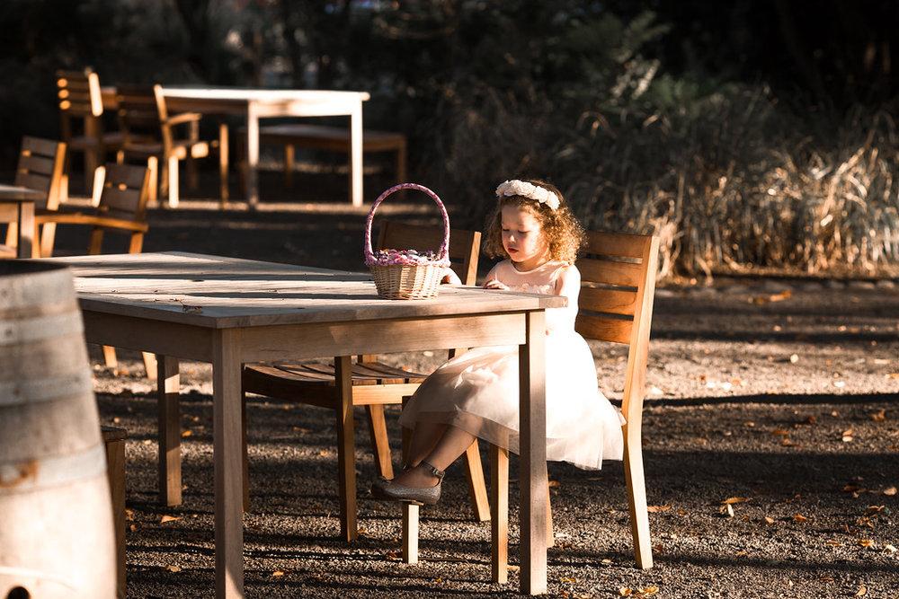Flowergirl | Astra bride Erin | Christina Rossi 4246 | Te Awa Winery | Josh Neilson Photography