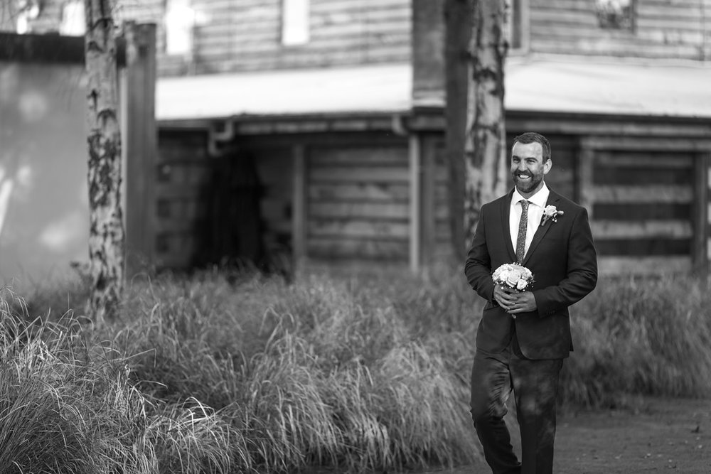 Male bridesmaid | Astra bride Erin | Christina Rossi 4246 | Te Awa Winery | Josh Neilson Photography