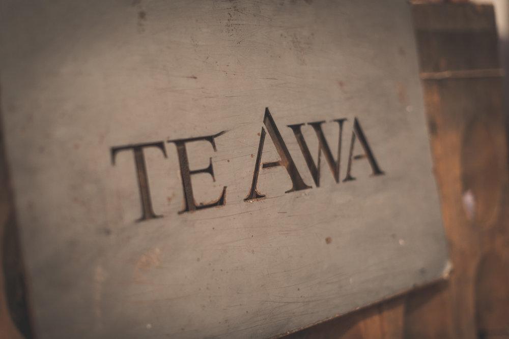 Te Awa sign | Astra bride Erin | Christina Rossi 4246 | Te Awa Winery | Josh Neilson Photography