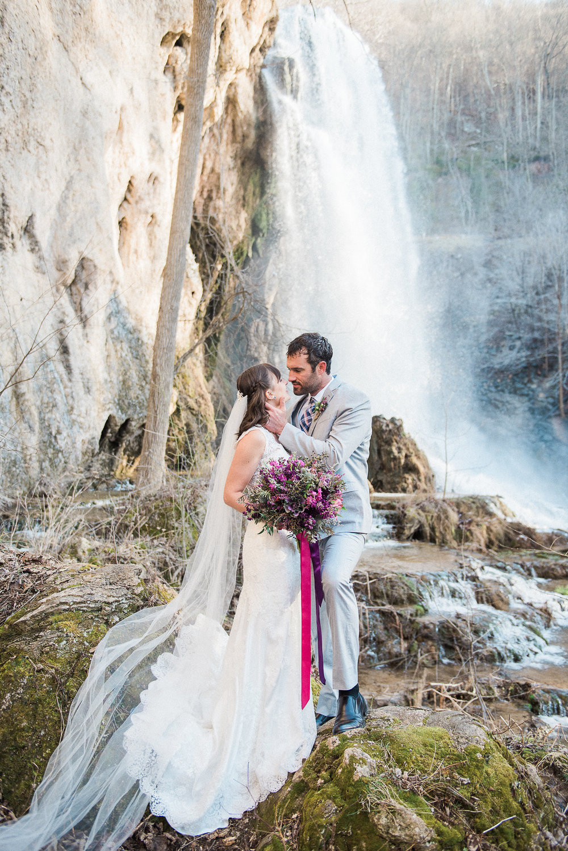 Maggie Sottero Melanie | Bohemian waterfall shoot | Melissa Durham Photography