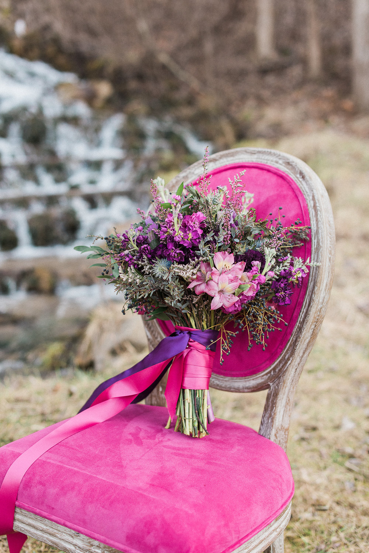 Stunning chair | Melissa Durham Photography | Floral Design: Elle Emme Floral Atelier