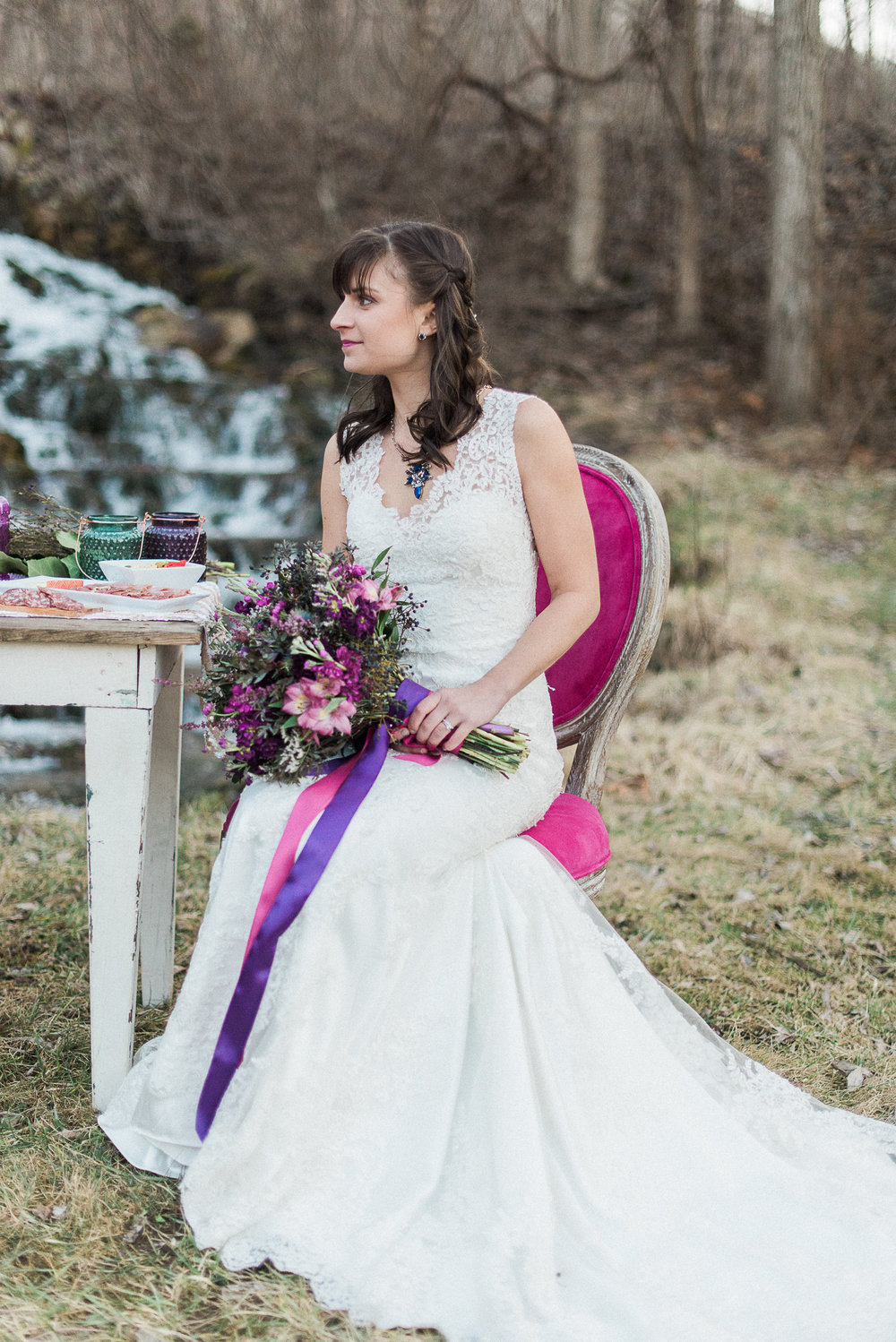 Purple bouquet | Melissa Durham Photography