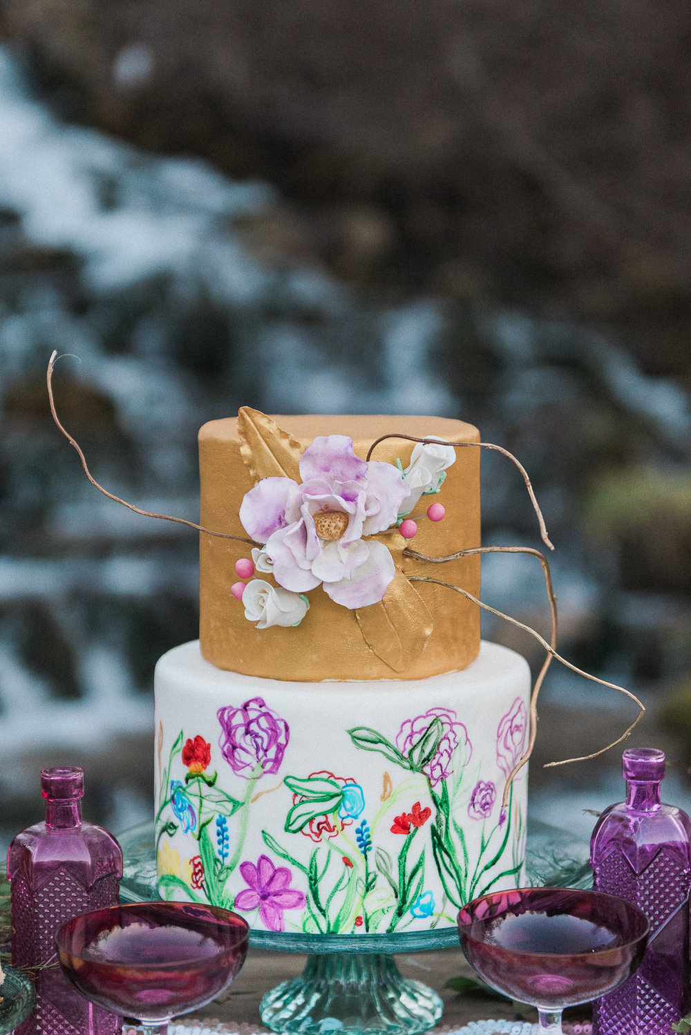 Boho cake | Melissa Durham Photography | Cake: For the Love of Sweets