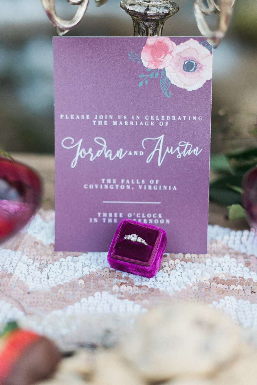 Purple Invites | Melissa Durham Photography