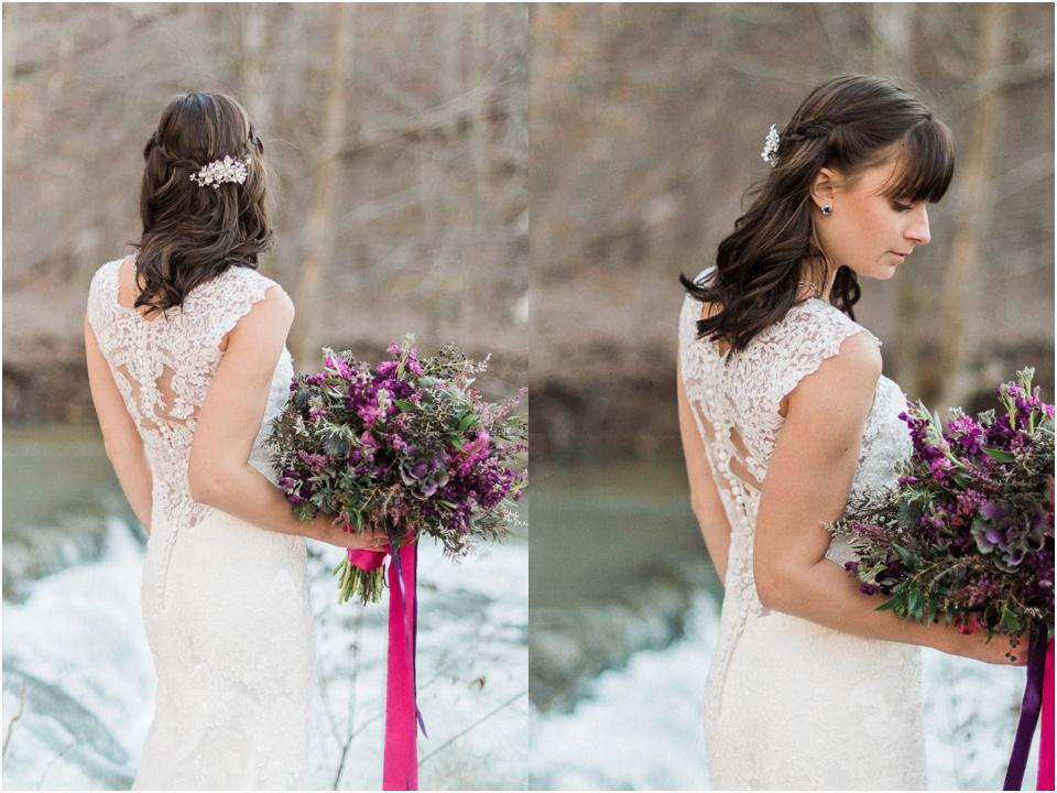 Maggie Sottero Melanie | Bohemian waterfall shoot | Melissa Durham Photography | Floral Design: Elle Emme Floral Atelier