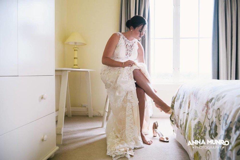 Before the Ceremony | Astra Bride Renee | Maggie Sottero Winifred | Brackenridge Country Retreat & Spa | Anna Munro Photography