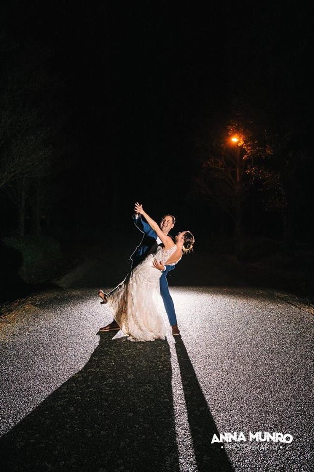 Night Shots | Astra Bride Renee | Maggie Sottero Winifred | Brackenridge Country Retreat & Spa | Anna Munro Photography