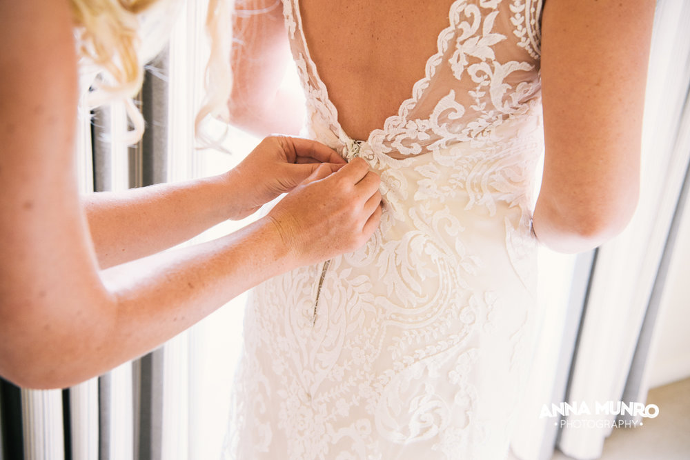 Lace Detail | Astra Bride Renee | Maggie Sottero Winifred | Brackenridge Country Retreat & Spa | Anna Munro Photography