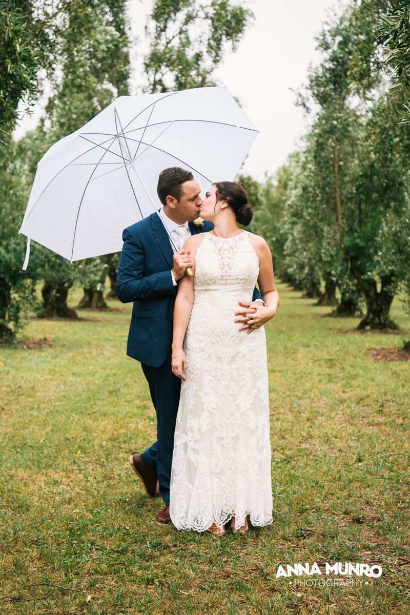 A touch of rain in an Olive Grove | Astra Bride Renee | Maggie Sottero Winifred | Brackenridge Country Retreat & Spa | Anna Munro Photography