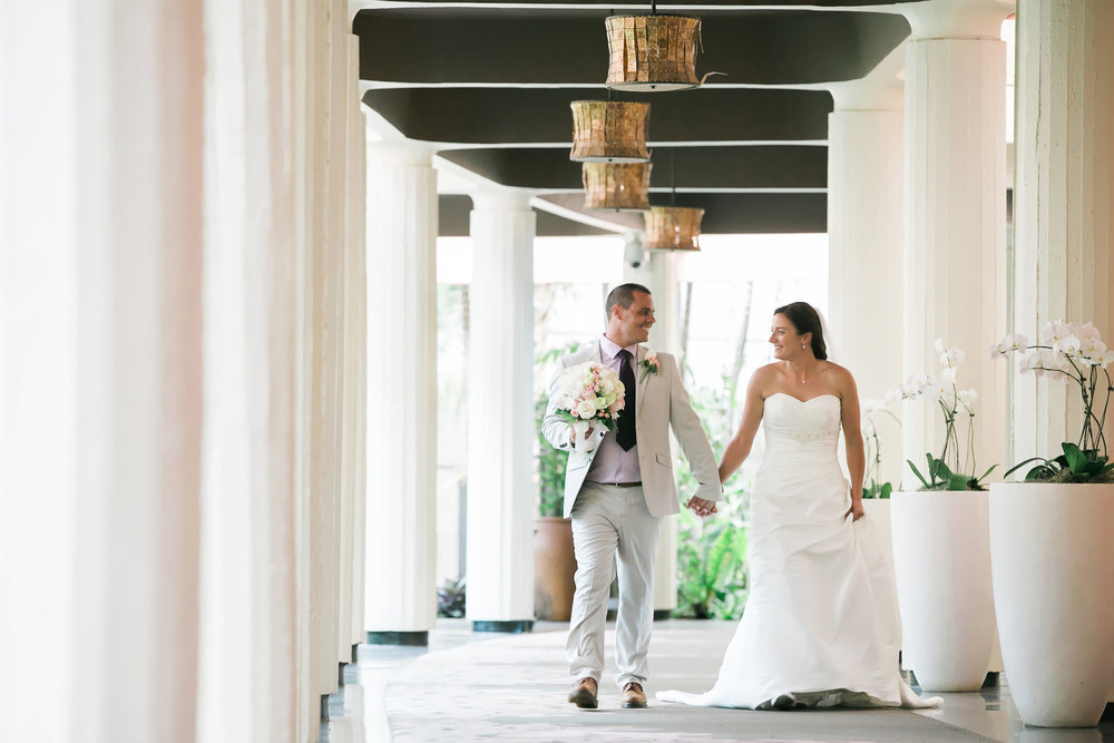 Bride & Groom | Astra Bride Candice | Cristina Rossi CR914 | Royal Hawaiian Hotel, Hawaii | Dulce Photography