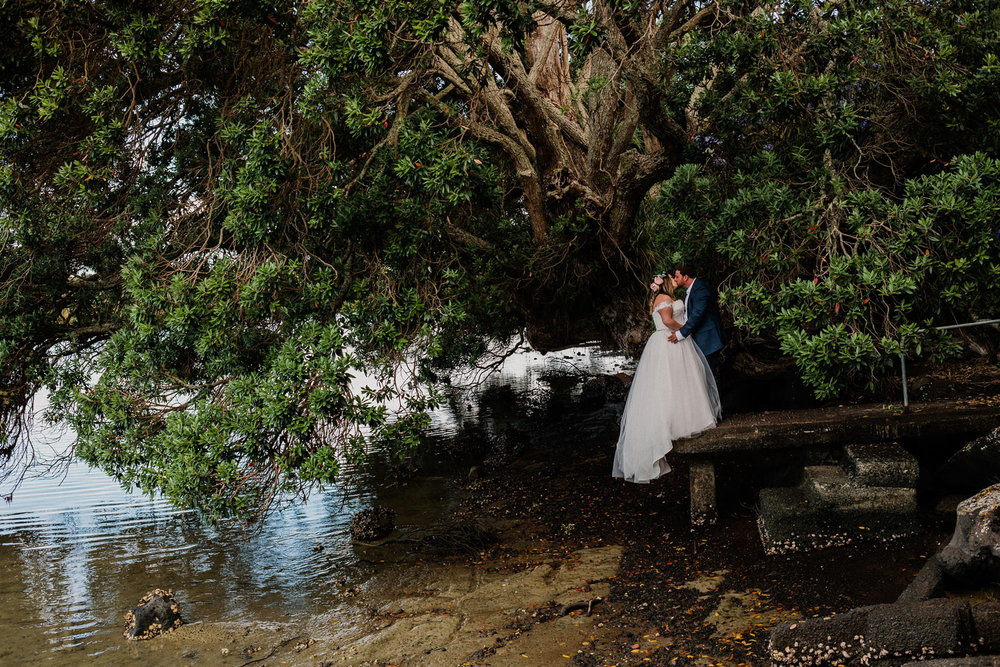 Water's Edge - Relaxed Backyard Wedding |  Astra Bride Stevie | Cristina Rossi AK1101 | Pt Chevalier, Auckland | Joanna Wickham Photography