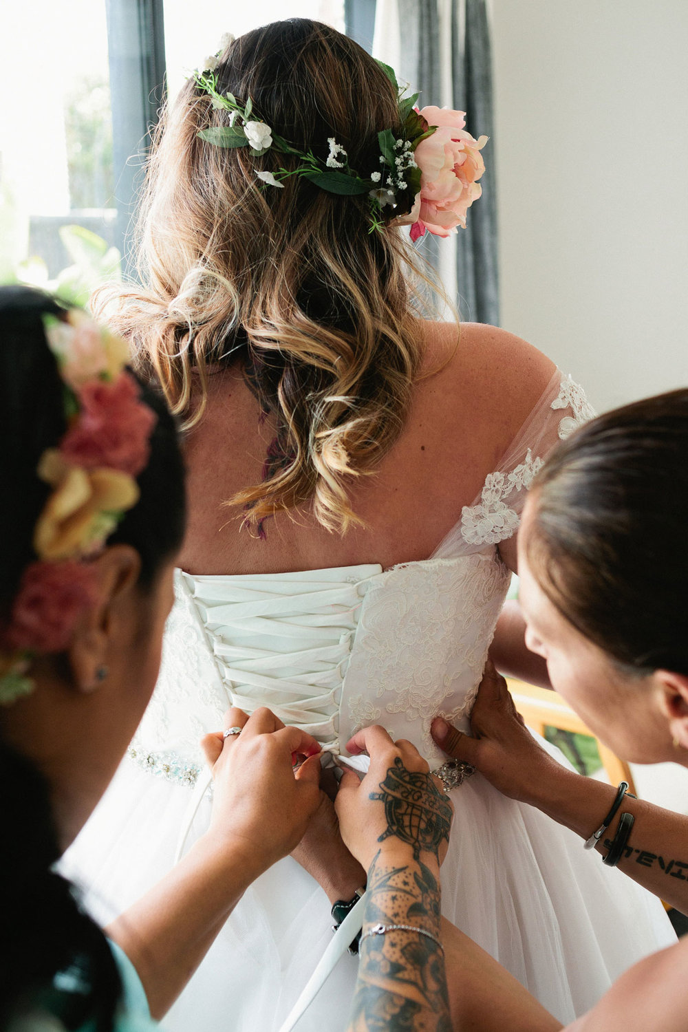 Lace Up Back |  Astra Bride Stevie | Cristina Rossi AK1101 | Pt Chevalier, Auckland | Joanna Wickham Photography