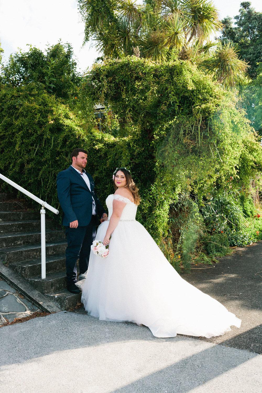 The Bride & Groom |  Astra Bride Stevie | Cristina Rossi AK1101 | Pt Chevalier, Auckland | Joanna Wickham Photography
