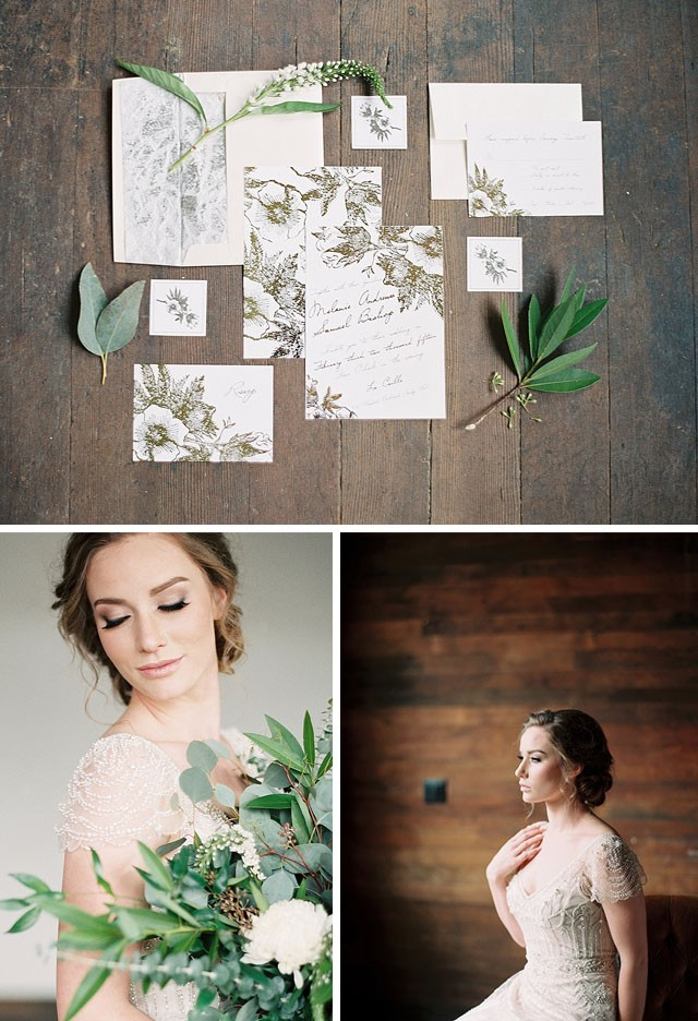 Glam rustic photoshoot | Maggie Sottero Ettia | Mallory Renee Photography