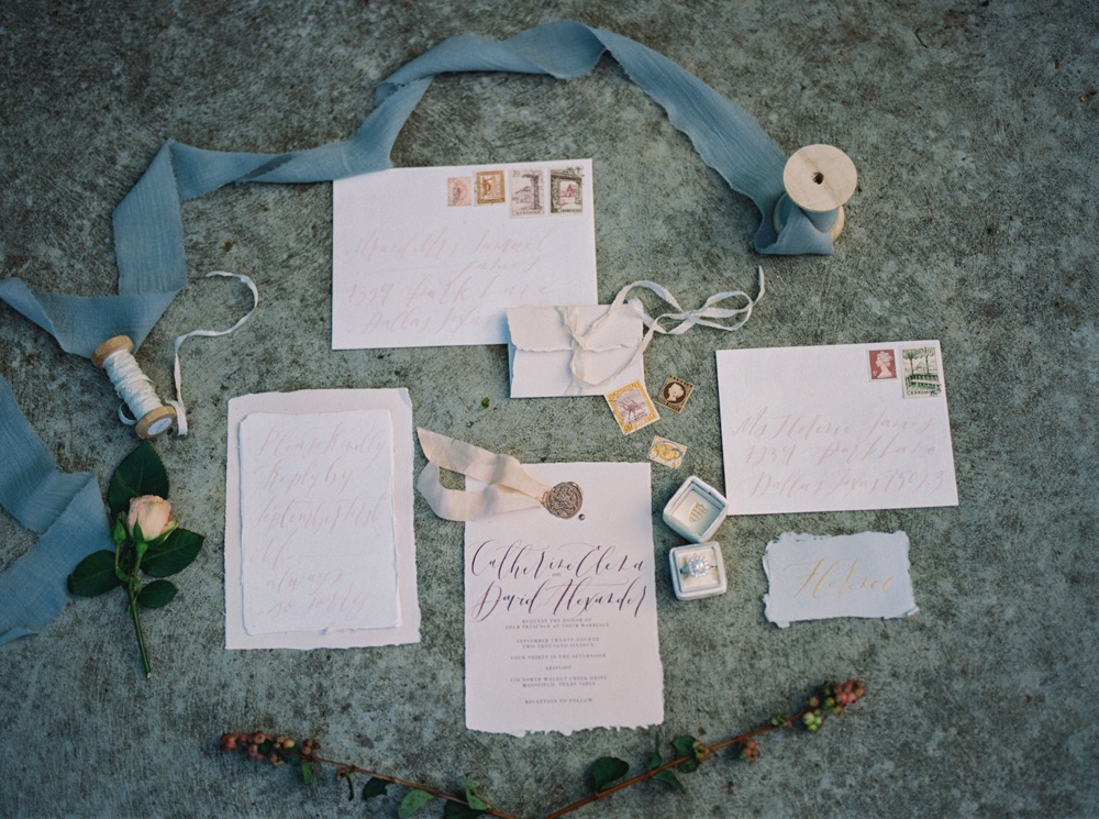 Paper and Posies Stationery | Maggie Sottero Melrose | Juianna Valette Photography