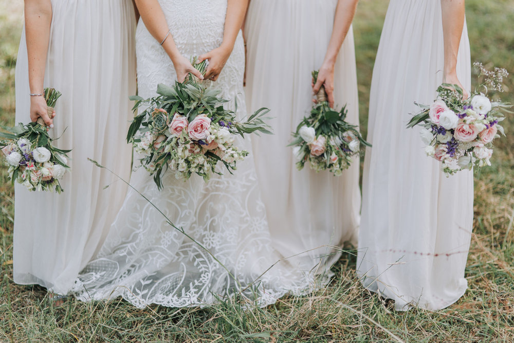 DIY florals | Astra Bride Stacey | Maggie Sottero Mirian | Boho wedding at home | Tinted Photography