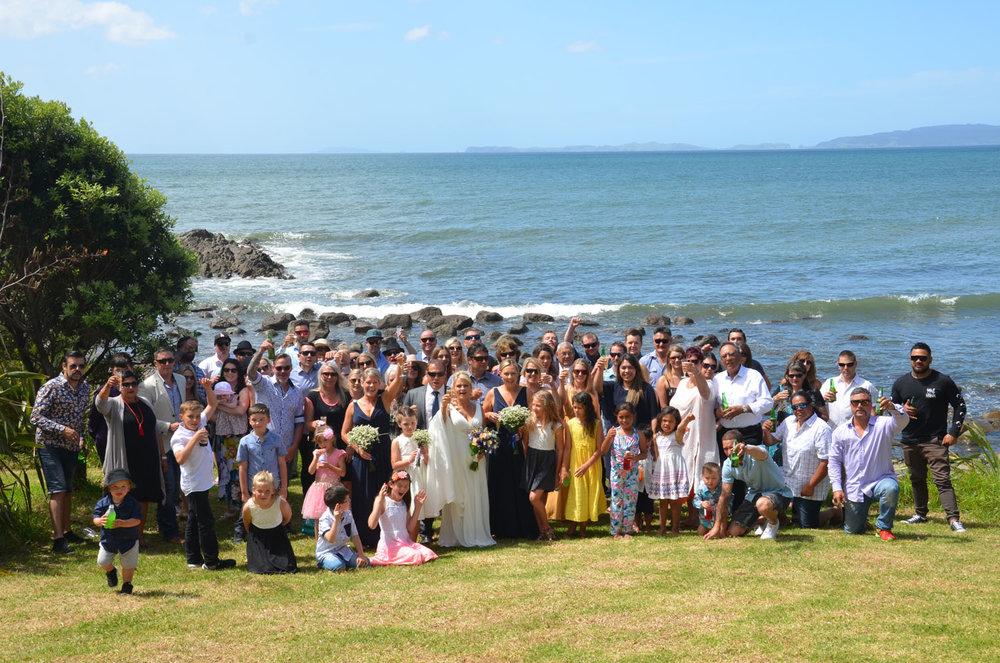 Wedding Guests | Astra Bride Sharleen | Bonny 6524 | Kuaotunu, Coromandel Peninsula | Tracey Henry Photography