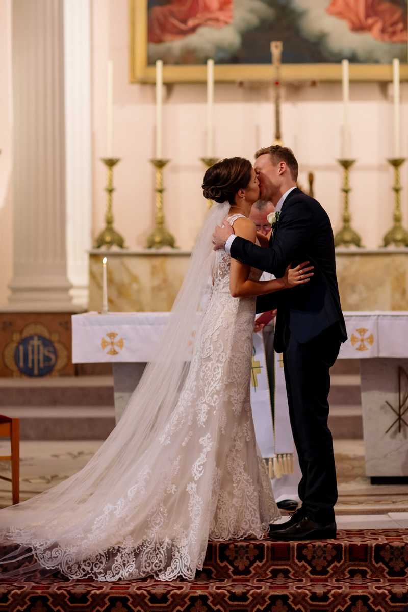 First kiss | Astra Bride Helena | Sottero & Midgley Winifred | Te Papa Wedding | The Official Photographers