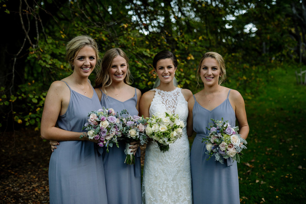 Steel bridesmaids | Astra Bride Helena | Sottero & Midgley Winifred | Te Papa Wedding | The Official Photographers