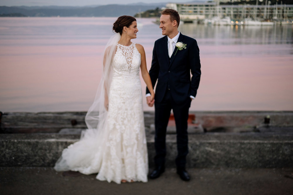Wellington harbour | Astra Bride Helena | Sottero & Midgley Winifred | Te Papa Wedding | The Official Photographers