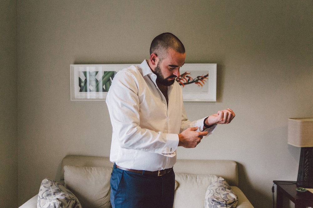 Travis getting ready | Astra Bride Kate