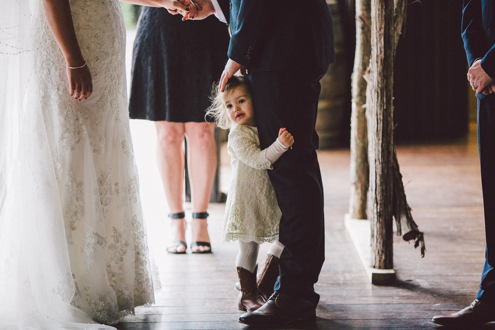 A Hug from the Flower Girl | Astra Bride Kate