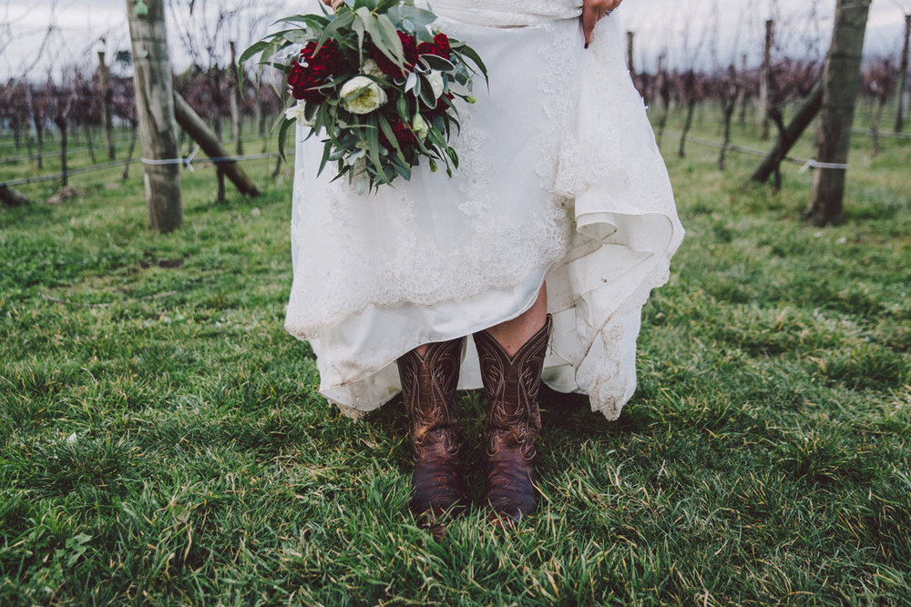 Gown and Cowboy Boots | Astra Bride Kate
